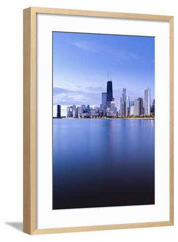 Usa, Illinois, Chicago, the Hancock Tower and Downtown Skyline from Lake Michigan-Gavin Hellier-Framed Art Print