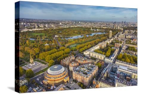 Aerial View from Helicopter,Royal Albert Hall and Hyde Park, London, England-Jon Arnold-Stretched Canvas Print