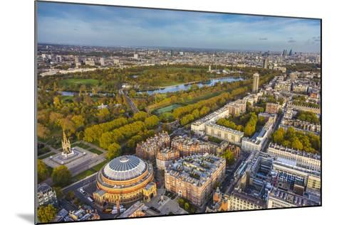 Aerial View from Helicopter,Royal Albert Hall and Hyde Park, London, England-Jon Arnold-Mounted Photographic Print