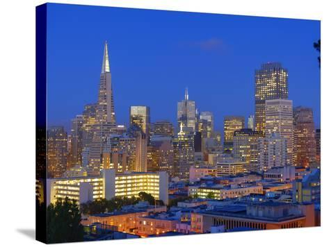 Downtown and Transamerica Building, San Francisco, California, Usa-Marco Simoni-Stretched Canvas Print