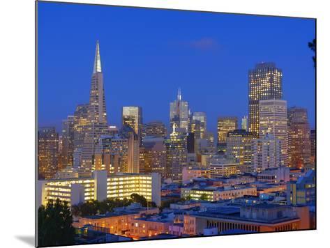 Downtown and Transamerica Building, San Francisco, California, Usa-Marco Simoni-Mounted Photographic Print