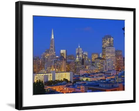 Downtown and Transamerica Building, San Francisco, California, Usa-Marco Simoni-Framed Art Print