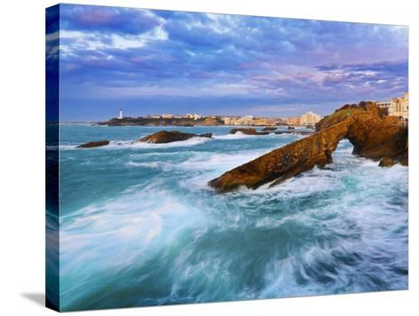 France, Biarritz, Pyrenees-Atlantique, Seascape-Shaun Egan-Stretched Canvas Print