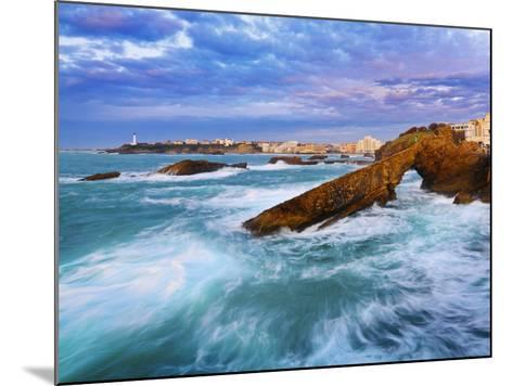 France, Biarritz, Pyrenees-Atlantique, Seascape-Shaun Egan-Mounted Photographic Print