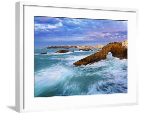 France, Biarritz, Pyrenees-Atlantique, Seascape-Shaun Egan-Framed Art Print
