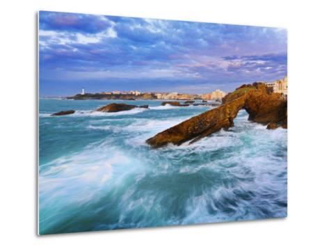 France, Biarritz, Pyrenees-Atlantique, Seascape-Shaun Egan-Metal Print