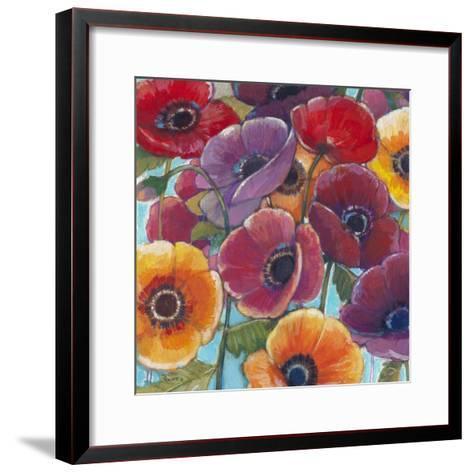 Electric Poppies 1-Norman Wyatt Jr^-Framed Art Print