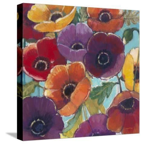 Electric Poppies 2-Norman Wyatt Jr^-Stretched Canvas Print
