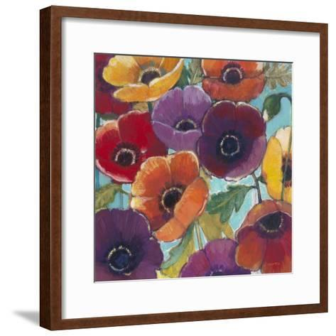 Electric Poppies 2-Norman Wyatt Jr^-Framed Art Print