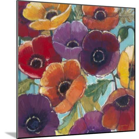 Electric Poppies 2-Norman Wyatt Jr^-Mounted Art Print