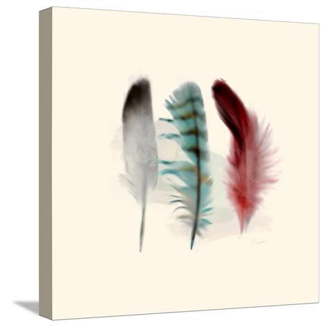 Three Feather Study 1-Evangeline Taylor-Stretched Canvas Print