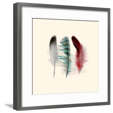 Three Feather Study 1-Evangeline Taylor-Framed Art Print