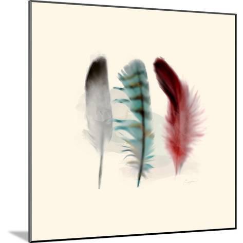 Three Feather Study 1-Evangeline Taylor-Mounted Art Print