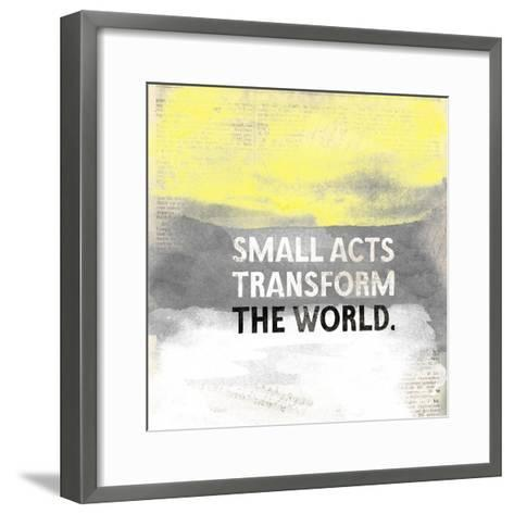 Small Acts-Evangeline Taylor-Framed Art Print