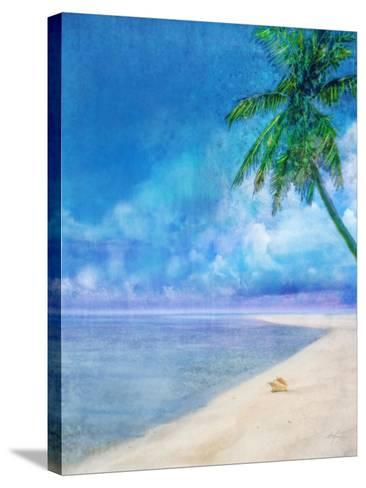 Palm Beach and Shell-Ken Roko-Stretched Canvas Print
