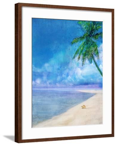 Palm Beach and Shell-Ken Roko-Framed Art Print