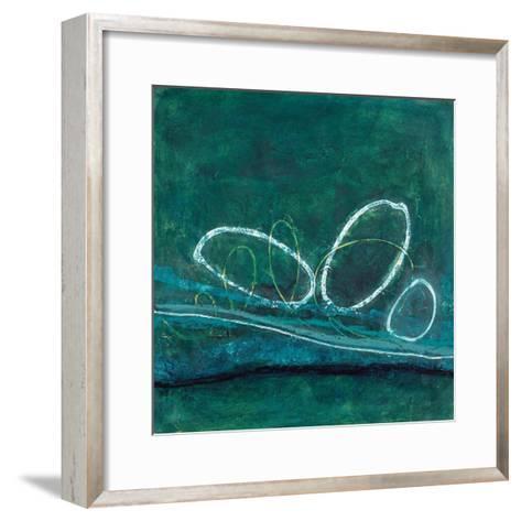 Oval Blues 1-Filippo Ioco-Framed Art Print