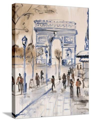 Paris Street 1-Madelaine Morris-Stretched Canvas Print