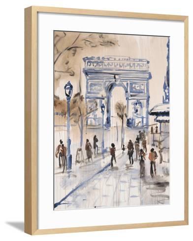 Paris Street 1-Madelaine Morris-Framed Art Print