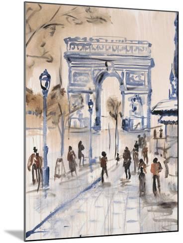 Paris Street 1-Madelaine Morris-Mounted Art Print