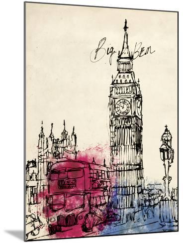 Big Ben in Pen-Morgan Yamada-Mounted Art Print