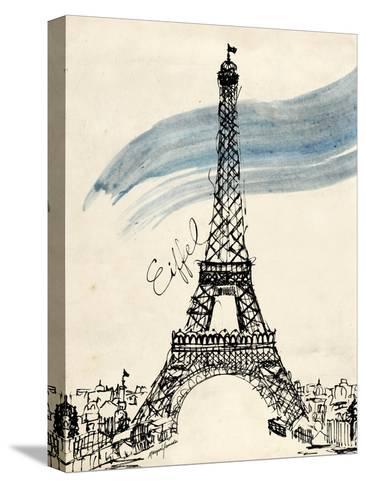 Eiffel Tower in Pen-Morgan Yamada-Stretched Canvas Print