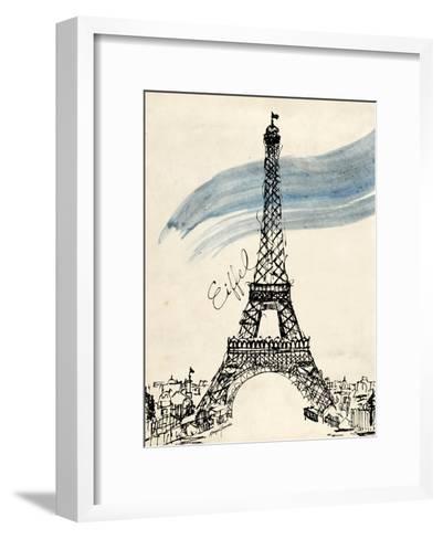Eiffel Tower in Pen-Morgan Yamada-Framed Art Print