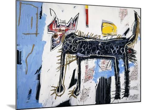 Part Wolf-Jean-Michel Basquiat-Mounted Giclee Print