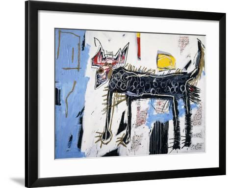 Part Wolf-Jean-Michel Basquiat-Framed Art Print