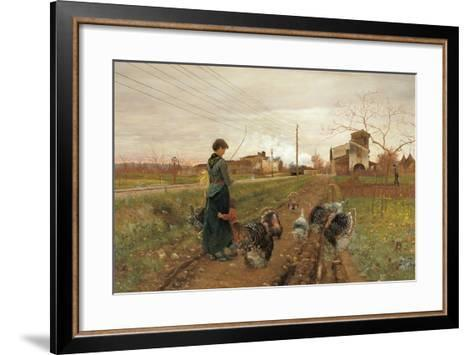 The Hiss of Steam-Angiolo Tommasi-Framed Art Print