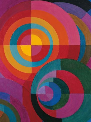 Circles-Johannes Itten-Stretched Canvas Print