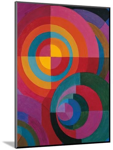Circles-Johannes Itten-Mounted Giclee Print