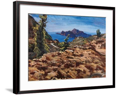 Capri from Massalubrense-Eugenio Viti-Framed Art Print