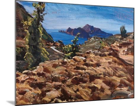 Capri from Massalubrense-Eugenio Viti-Mounted Giclee Print