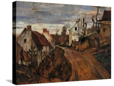 Village Street in Auvers-Paul C?zanne-Stretched Canvas Print