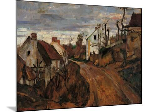 Village Street in Auvers-Paul C?zanne-Mounted Giclee Print