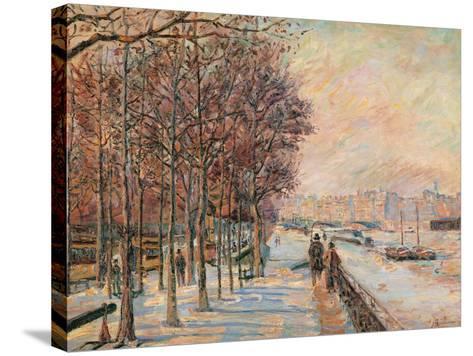 La Place Valhubert-Jean-Baptiste-Armand Guillaumin-Stretched Canvas Print