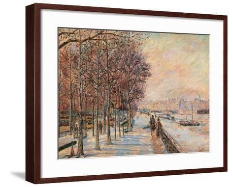 La Place Valhubert-Jean-Baptiste-Armand Guillaumin-Framed Art Print
