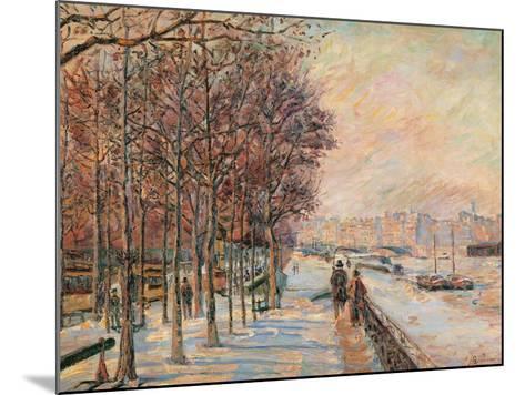 La Place Valhubert-Jean-Baptiste-Armand Guillaumin-Mounted Giclee Print