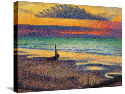 The Beach at Heist-Georges Lemmen-Stretched Canvas Print