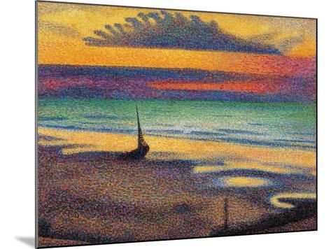 The Beach at Heist-Georges Lemmen-Mounted Giclee Print