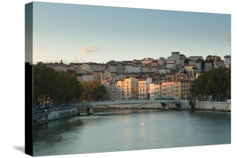 The Saone in Lyon I-Erin Berzel-Stretched Canvas Print