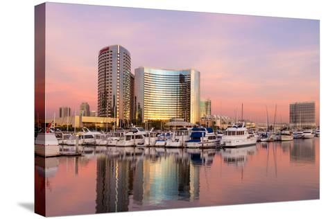 San Diego Waterfront II-Kathy Mahan-Stretched Canvas Print
