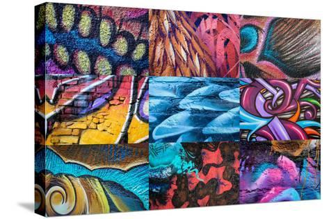 Graffiti I-Kathy Mahan-Stretched Canvas Print