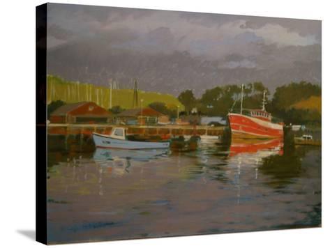 Fisherman's Quay, Salcombe-Jennifer Wright-Stretched Canvas Print