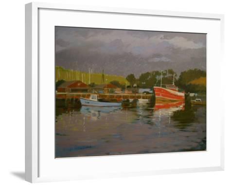 Fisherman's Quay, Salcombe-Jennifer Wright-Framed Art Print