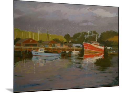 Fisherman's Quay, Salcombe-Jennifer Wright-Mounted Giclee Print
