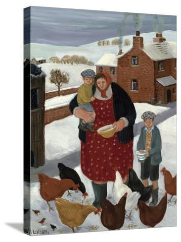 Backyard in Winter-Margaret Loxton-Stretched Canvas Print