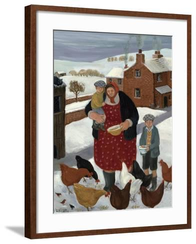 Backyard in Winter-Margaret Loxton-Framed Art Print