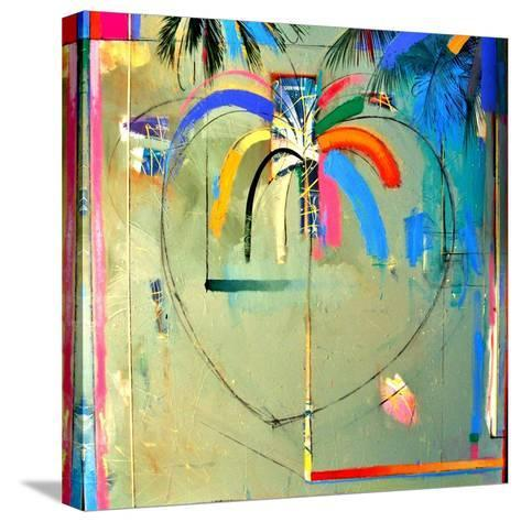The Serendipity Peek-A-Boo Palm (Hello Freedom)-Andrew Hewkin-Stretched Canvas Print